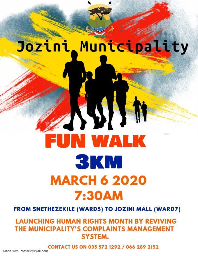 Jozini Municipality Fun Walk 2020
